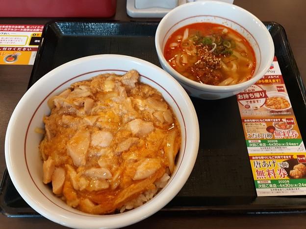 なか卯 親子丼 坦々うどん(小) ランチセット
