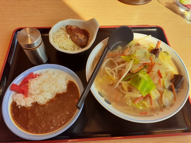 昼飯はいつもの山田うどん\(^-^)/