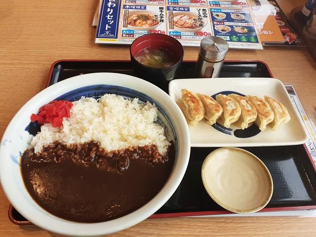 山田うどん 辛口カレー ご飯大盛り 餃子