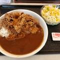 Photos: 吉野家 牛スパイシーカレー 大盛り サラダ