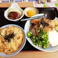 Photos: 冷やし五目そば ミニ玉子丼 ミニハンバーグ