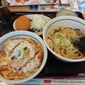 Photos: かつ丼 冷やしたぬきうどん カレーコロッケ