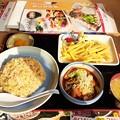 Photos: 山田うどん チャーハン 赤パンチ フライドポテト