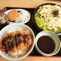 Photos: 山田うどん 味噌かつ丼 ざるうどん ミニカレーコロッケ