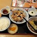 Photos: 山田うどん 野菜炒め定食 冷やしたぬき蕎麦 ミニハンバーグ