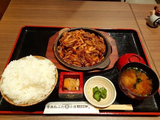 青森B級グルメ 十和田バラ焼き定食 ご飯大盛り