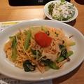 Photos: 亀よし食堂 明太子クリーム サラダセット