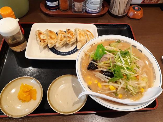山田うどん 野菜味噌ラーメン アプリ無料餃子
