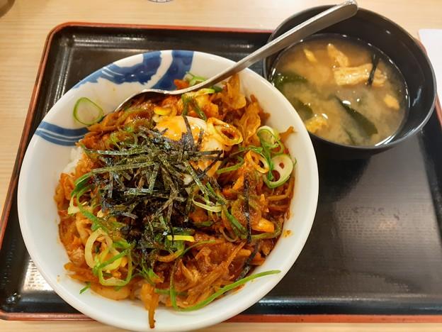松屋 ビビンバ丼 ご飯焼き