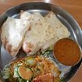 Photos: インド食堂 マハトマ ダル(豆) チーズナン
