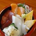 三色丼  美味しいo(^o^)o