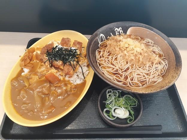 ゆで太郎  カレーかつ丼セット