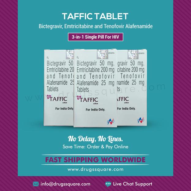 Hetero Taffic 錠剤 - HIV治療のためにジェネリックBiktarvyをオンラインで購入