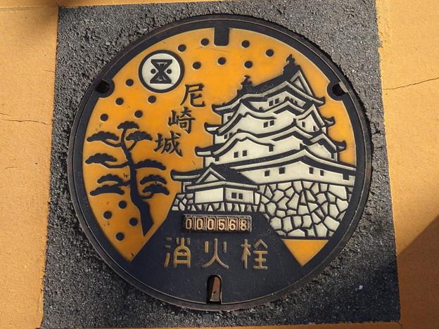 2019.11.2 消火栓のふたが尼崎城に