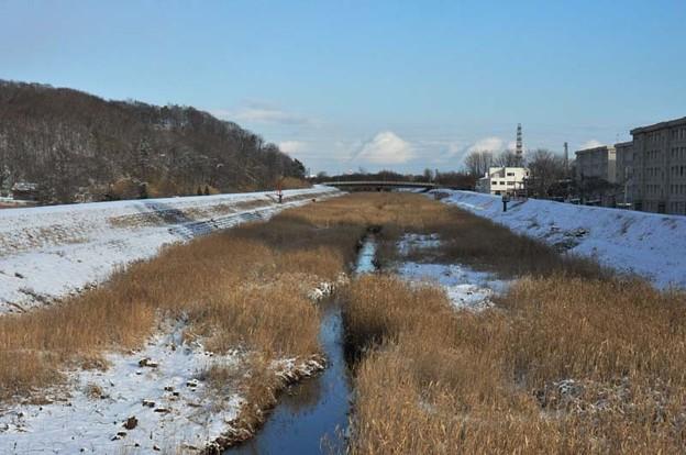 冬の苫小牧川中流部→上流部
