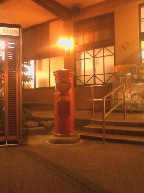 村上駅前 丸ポスト
