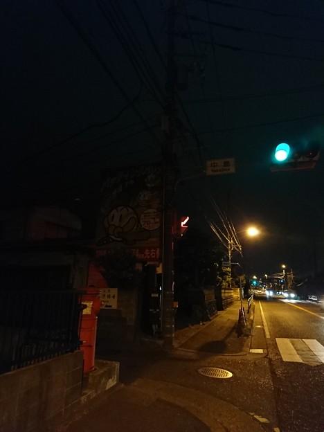 茅ヶ崎市  国道1号線沿い  丸ポスト