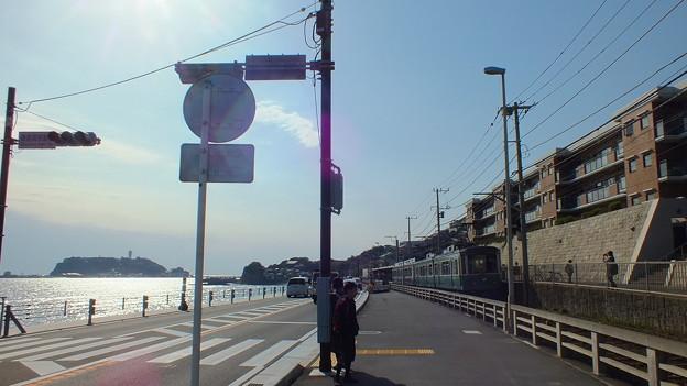 江の島と江ノ電