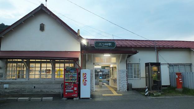 山梨県 富士急行 三つ峠駅 前 丸ポスト  NO.0002 山梨県 001