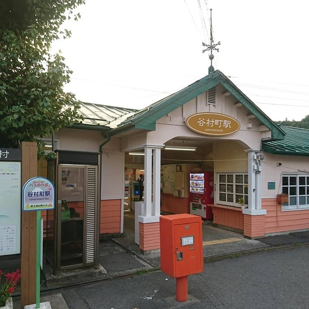 山梨県 富士急行 谷村町駅前 角ポスト その他ポスト001