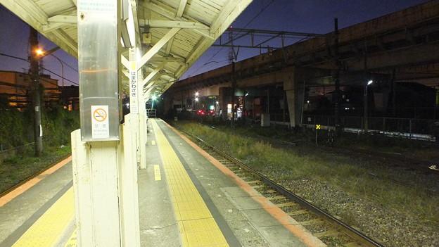 JR鶴見線浜川崎駅構内から見た夕景