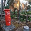 静岡県三島市 白滝公園 丸ポスト 展示品