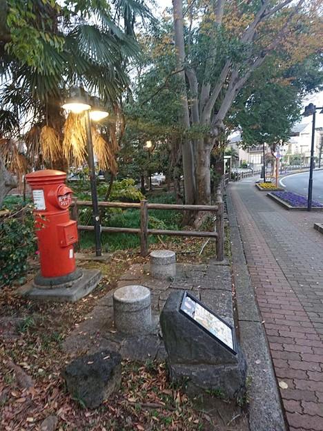 静岡県三島市 白滝公園 丸ポスト2 展示品