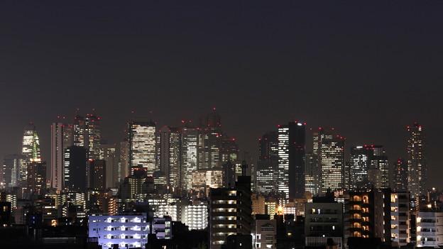 新宿摩天楼(目白から南方)