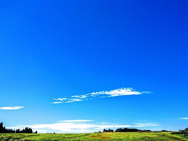 写真: 房総半島 秋元牧場の空