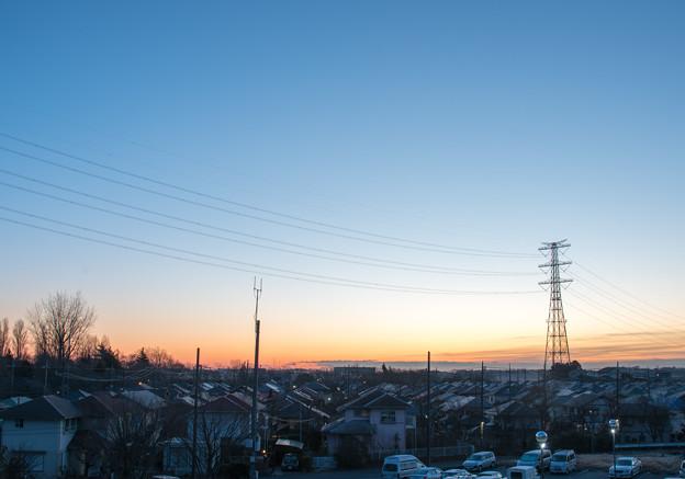 写真: 団地の朝