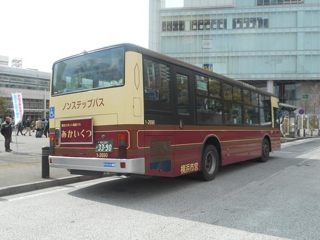 横浜市営バス1-2690「あかいくつ」 2018-3-18/2