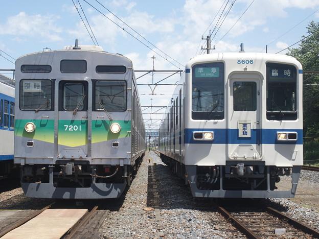 写真: #3106 秩鉄デハ7201・東武クハ8606 2018-5-19