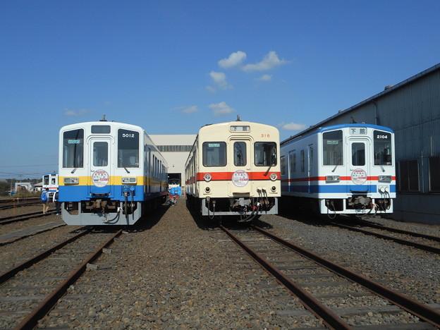 #3711 関東鉄道キハ5012・キハ316・キハ2104 3並び 2018-11-3