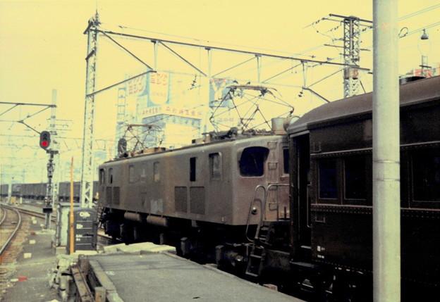 #4062 EF13+スハ32(西コフ)車両番号不明 1971-9-24