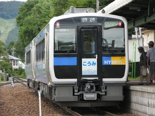 #6980 小海線キハE200-1+2 2007-8-28