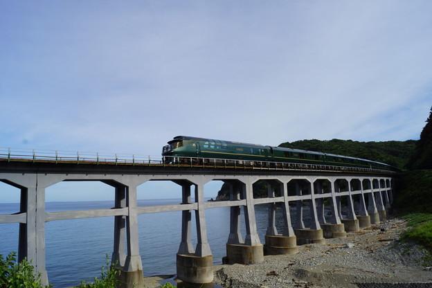 Photos: JR西日本 瑞風 山陰線 宇田郷鉄橋