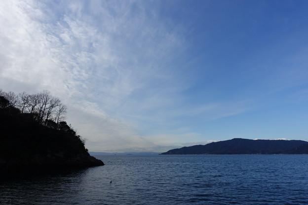 呉市 倉橋町鹿島 空と海と雲