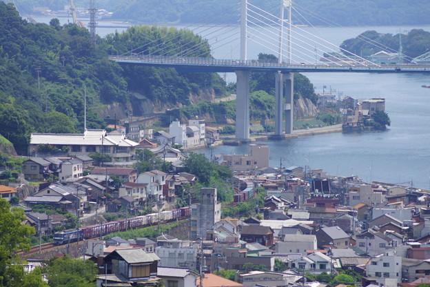 JR西日本 尾道水道 貨物列車