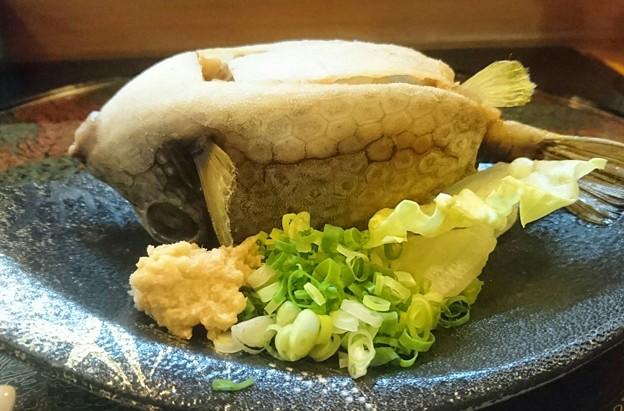ハコフグの味噌焼き
