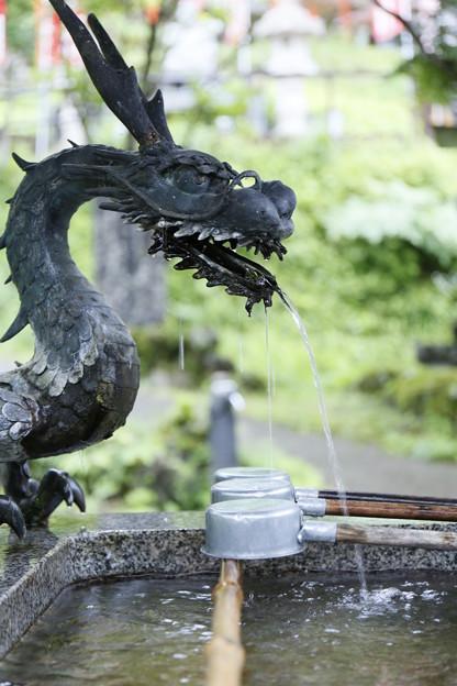 おいらの水で手を洗いな!