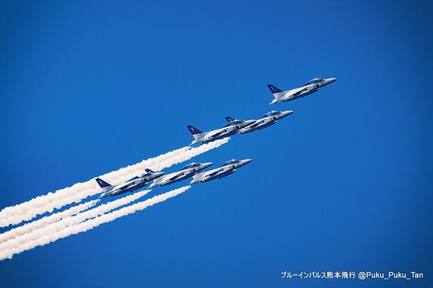 ブルーインパルス熊本飛行。