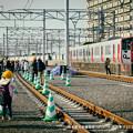 写真: 熊本駅在来線高架ウォーキング。