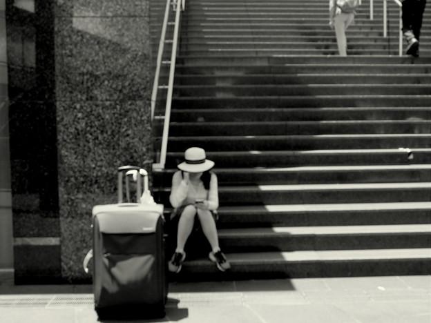 大階段で待ってるね