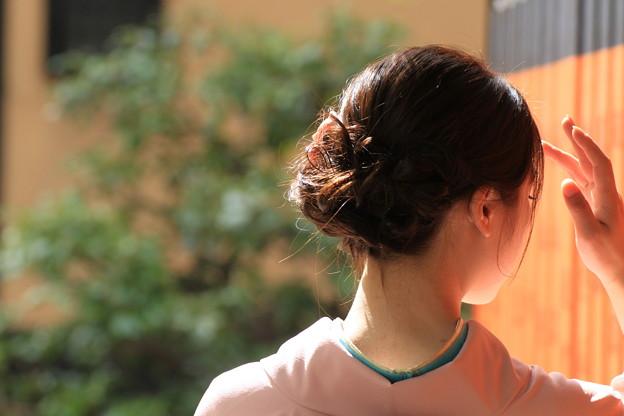 写真: 祇園の人