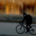 鴨川の夕暮れ