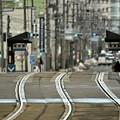 市電のレール