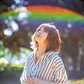 虹を見上げて