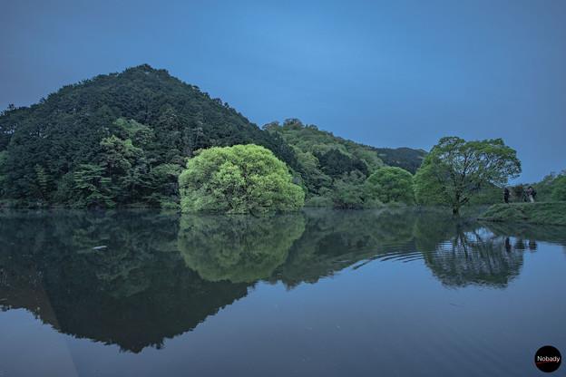 夜明けの室生湖