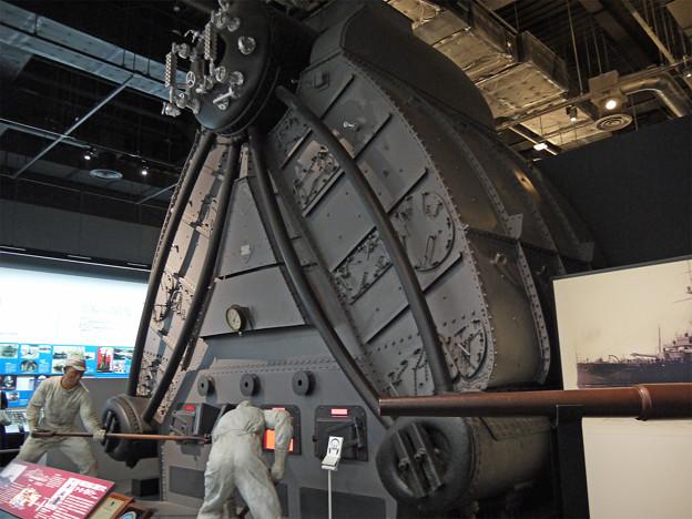 大和ミュージアム(2)戦艦「金剛」に搭載されたヤーロー式ボイラー