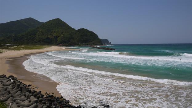 阿武郡阿武町の国道191号から日本海を見る (1)